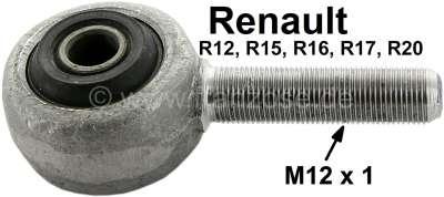 Renault R16/R12, gear rack eye (tie rod securement) for Renault R12, R16, R15, R17, R20. Thread M1