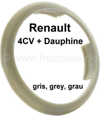 Renault 4CV/Dauphine, plastic ring for the emblem in the steering wheel. Colour: grey. Suitable fo