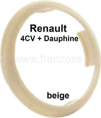 Renault 4CV/Dauphine, plastic ring for the emblem in the steering wheel. Colour: beige. Suitable f
