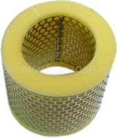 Air cleaner element suitable for Citroen AMI6, AMI8, Mehari + Citroen HY Diesel. Outside diameter: 118mm. Inside diameter: 75mm. Height: 88mm. Or.Nr.: AM1715 -1 - 10217 - Der Franzose