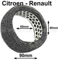 Air cleaner element for 2CV from the fifties + Renault R4 from the sixties and many Renault with rear engine. Wire mesh approximately. Outside diameter: about 90mm, inside diameter: 65mm, height: 40mm. - 10451 - Der Franzose