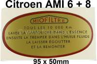 Label air filter MioFiltre, Citroen AMI6 + 8. - 16989 - Der Franzose