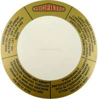 Label air filter MioFiltre round, for Citroen 2CV. - 16977 - Der Franzose