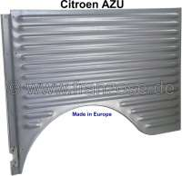 AZU, fender at the rear left, for Citroen AZU. Small corrugated sheet. The fender is electrolytically galvanized! Made in Europe. - 15326 - Der Franzose