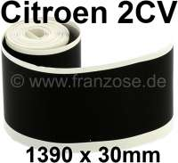2CV, Box sill adhesive strip, color black. 1390x30mm, per piece. | 16098 | Der Franzose - www.franzose.de