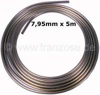 Brake + hydraulic line. Diameter: 7,95mm (5/16 inch). Length: 5 meter. Material: Kunifer (copper - nickel alloy, simple to bend. Kunifer does not rust). Clinch screws order seperate! | 13158 | Der Franzose - www.franzose.de
