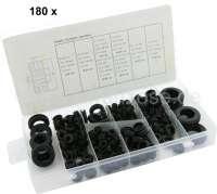 Cable execution rubber set. Contents: 40x6mm, 40x9mm, 40x10mm, 20x12mm, 25x11mm, 5x19,5mm, 5x21mm, 5x24mm | 20238 | Der Franzose - www.franzose.de