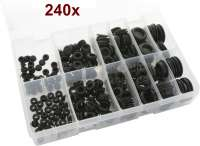 Popular assortment of rubber Wiring & Blanking grommets. Wiring Grommets from 6mm to 16mm. Blanking Grommets from 8mm to 25mm. Box Qty 240 - 60295 - Der Franzose
