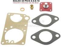Carburetor+repair+set+for+Citroen+2CV4+%2B+2CV6.+Dyane+4+%2B+Dyane+6%2C+AZU250%2C+AKS%2C+Mehari.+Round+carburetor+Solex+34+PICS+4-5-6-10.