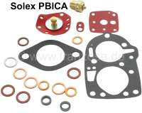 Carburetor sealing set, for Solex PBICA. Suitable for Citroen 2CV, DS, 11CV, HY. Peugeot 403, 404, 504 L, J7. Renault Dauphine + Floride. The diaphragm has a diameter of 20mm. - 32057 - Der Franzose