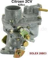 Carburetor SOLEX 26 BCI. Suitable for Citroen 2CV (425cc). - 91025 - Der Franzose