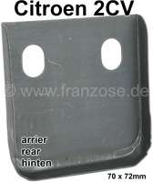 2CV, Chassis guide under the luggage compartment sheet metal, suitable for Citroen 2CV. This welded sheet metal takes up the chassis end points. Made in Europe. - 15408 - Der Franzose
