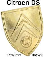 Bonnet handle emblem. Suitable for Citroen DS. Reproduction, how original! Or. Nr.852-2E - 37677 - Der Franzose