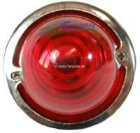 Indicator - chrome ring for the front indicators (2 fittings), for Citroen 2CV. Also suitable for the back lights Citroen AZU, AK400, DS BREAK, HY. Own reproduction. Anodised aluminium. -2 - 16855 - Der Franzose