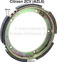 Centrifugal clutch ring with friction linings. Lining-wide 26mm. Suitable for Citroen 2CV6 with centrifugal clutch. Or.Nr.: AM312-7, AZL6 - 10186 - Der Franzose