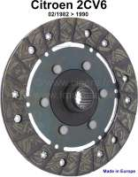 Clutch disk starting from 02/1982. Suitable for Citroen 2CV6. - 10089 - Der Franzose