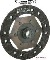 Clutch disk, starting from year of construction 03/1982. Suitable for Citroen 2CV6. Diameter: 160mm. Number of teeth: 18. Hub profile: 17,8x20,3-18N. Manufacturer: Sachs! - 10630 - Der Franzose