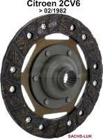 Clutch disk, to year of construction 02/1982. Suitable for Citroen 2CV6. Diameter: 160mm. Number of teeth: 18. Hub profile: 17,8x20,3-18N. Manufacturer: Sachs! | 10629 | Der Franzose - www.franzose.de