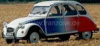 Cocorico sticking set, for Citroen 2CV. Coorico was a special model in France, with white body and the sticking set. The rear fenders and the Valence panels were colored painted. -1 - 16219 - Der Franzose