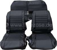 Covering AMI8 in front + rear. Suitable for 2 single seats in front (with map bag) + 1x seat bench rear. Material: Vinyl. Color: black. Suitable only for Citroen AMI8. - 18603 - Der Franzose