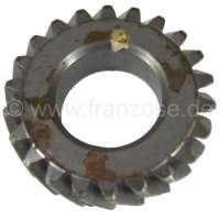 Crankshaft gear wheel narrowly, for Citroen AMI8 + 2CV6. 22 teeth. Gear-wide: 13,6mm. Wide one completely: 15,6mm. -1 - 10329 - Der Franzose