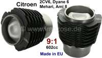 Piston + liner (2 pieces). Suitable for Citroen 2CV6/Club, Charleston, Special. Dyane 6, Ami 6 + 8. Engine capacity: 602ccm. Engine: M28, R6, 627. Compression 9:1 (32HP). Inclusive Piston rings. Piston pin: 20 x 63,5mm. High-quality reproduction from the European Union. - 10062 - Der Franzose
