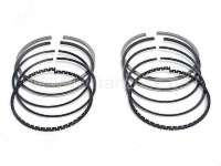 Piston rings, for 2 pistons, original, 602cc engine as from 1976.  Measure: 1,75 + 2,0 + 3,5mm. 74mm bore. Improved version with 2 steel rings! The benefits are: Higher running performance, resistant, improves adaptation to the liner, less friction, reduction of the oil consumption! -1 - 10060 - Der Franzose
