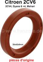 Shaft seal crankshaft in front, for Citroen 2CV (all engines). Improved version from silicone. Measurement: 30x42x8mm - 10157 - Der Franzose