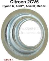 2CV6, centering plate for the valve spring. Suitable for Citroen 2CV6.  Or.Nr.AZ1241 - 10510 - Der Franzose