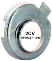 Follower tubing seal - sheet metal plates, for Citroen 2CV6 starting from year of construction 10/1972.  Suitable for the follower tubing seal with narrow connecting post. Per piece!