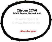 Valve cover gasket for Citoen 2CV6 + 2CV4. Material rubber. Manufacturer: Original GLASER. Made in Germany.