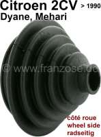 Collar drive shaft, wheel side (without lubricating grease, without clips). Suitable for Citroen 2CV4 + 2CV6. Installed to year of construction 1990. - 12239 - Der Franzose