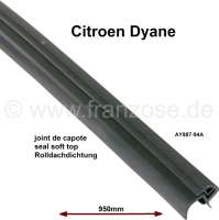 Dyane, soft top hood seal in front, above at the windshield frame. Or. AY987-94A - 17412 - Der Franzose