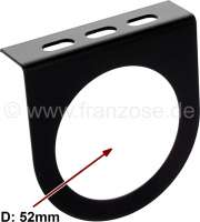 Instrument fixture (made of metal) for 1 additional instrument with 52mm diameter. Universal fitting. Made in Germany. | 60108 | Der Franzose - www.franzose.de