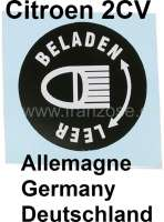 Label for the headlight vertical adjustment (only for Germany). Suitable for Citroen 2CV6. | 17537 | Der Franzose - www.franzose.de