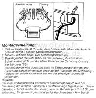 Light - buzzer. 12 V. Universal fitting. Simple installation. -1 - 14176 - Der Franzose