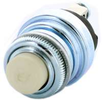 Push button switch universal, with white push-button (e.g. engine activate button). 16mm installation hole. -1 - 85202 - Der Franzose
