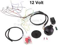 Electrical mounting kit universal, for tow trailer coupling. Inclusive  Relay for French car. 12 V. 7 pole plug socket. Additional control light. Connection of the Hella flashing relay: Clamp 49 = plus supply, corresponds + to indications on 2CV the relay. 49a = outlet flashing relay clamps to indicator in front + rear, clamp corresponds to C on 2CV flashing relays! C2 = connection clamps additional control light. Clamp 31 = earth, must be screwed on to vehicle! This port do not have the 2CV flashing relay! The original control light, in the vehicle, you must parallel on the clamp 49a scolded!               Electronic kit universal for trailer towing device, incl. relay for French cars, 7 pole plug socket - 14115 - Der Franzose
