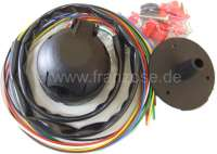 Electrical wiring harness universal, for tow trailer coupling. Note:  Only cables + socket! Without flasher, without control light. 7 cores. - 14151 - Der Franzose
