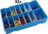 Cable connector set, 92 pieces. - 20136 - Der Franzose