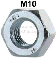 Nut M10, for the stud bolt for connection engine and gearbox. Suitable for Citroen 2CV, Dyane, Ami. - 10640 - Der Franzose