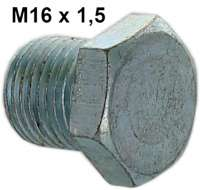 Oil drain screw (engine + gearbox) suitable for Citroen 2CV, DS, HY, GS. Thread M16. - 10002 - Der Franzose