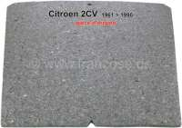 2CV, bonnet, damming mat (original), for Citroen 2CV, of year of construction 1961 to 1990. The bonnet insulating mat is self adhesive. Original Citroen, no reproduction. - 16011 - Der Franzose