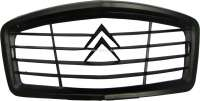 2CV, Radiator grill from synthetic. Completely black. Simple reproduction. Suitable for Citroen 2CV starting from 1961. - 16132 - Der Franzose