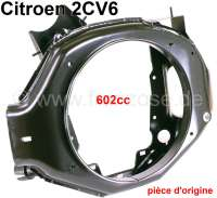 Engine fan case (for disc brake). Suitable for Citroen 2CV6, Dyane, AK, Mehari. Original Citroen, no reproduction - 10040 - Der Franzose