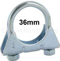 2CV6, exhaust clip rear muffler. Specially strong U-shaped bracket clip, maximum diameter of the exhaust pipe: 36mm. Suitable for Citroen 2CV6.