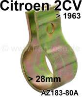 2CV old, rear muffler exhaust clip, for Citroen 2CV to year of construction 1963. Clamping range to about 28mm. Or.Nr.AZ18380A - 11099 - Der Franzose