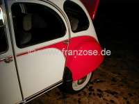 2CV, Fender rear, stone guards angle foil. (1 pair). Self adhesive.  Reproduction technically and optically like original. -1 - 16097 - Der Franzose