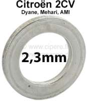 Kingpin spacer (distance disk). Heavy one: 2,3mm. Suitable for Citroen 2CV. Per piece! Or. No.: A4137 - 12259 - Der Franzose