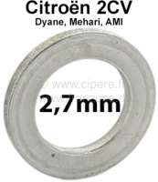 Kingpin spacer (distance disk). Heavy one: 2,7mm. Suitable for Citroen 2CV. Per piece! Or. No.: A4137B - 12261 - Der Franzose